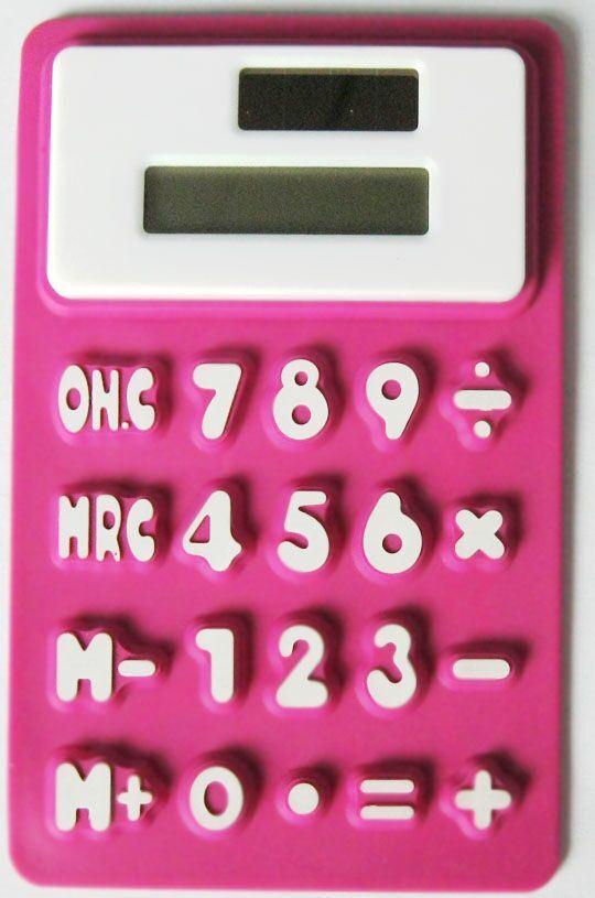 8 Digit Solar Powered Pocket Silicone Foldable Calculator