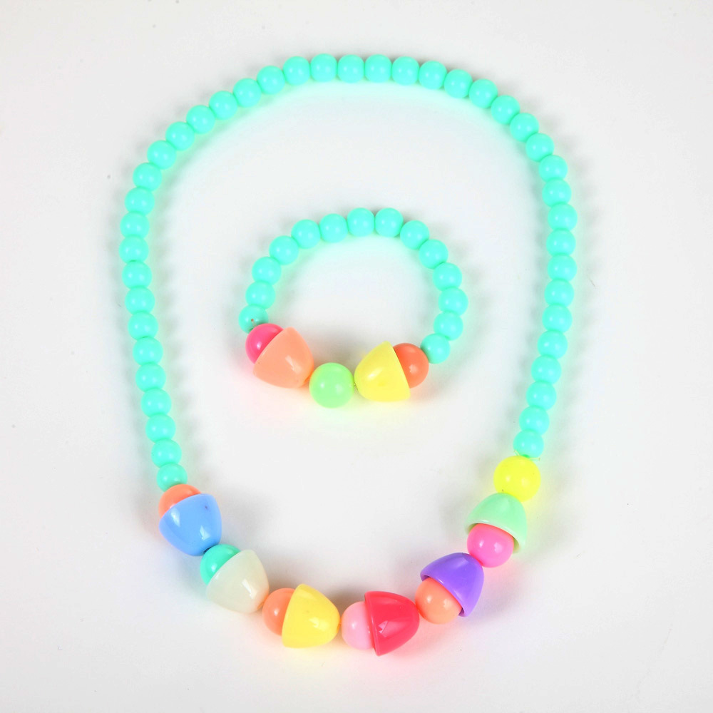 Fashion Beaded Necklace for Girls Children