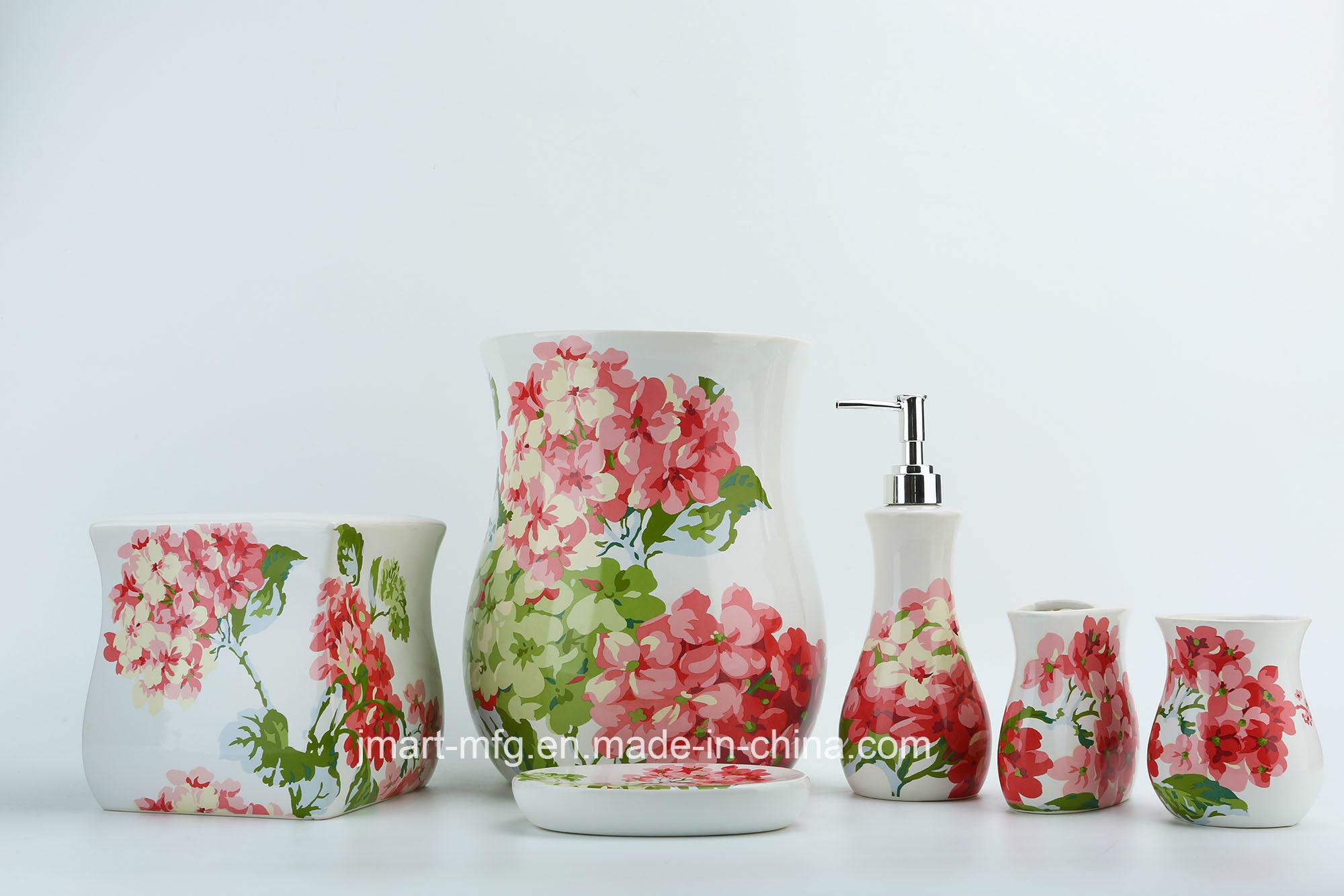 Rolling Meadow Decal Ceramic Bathroom Accessory