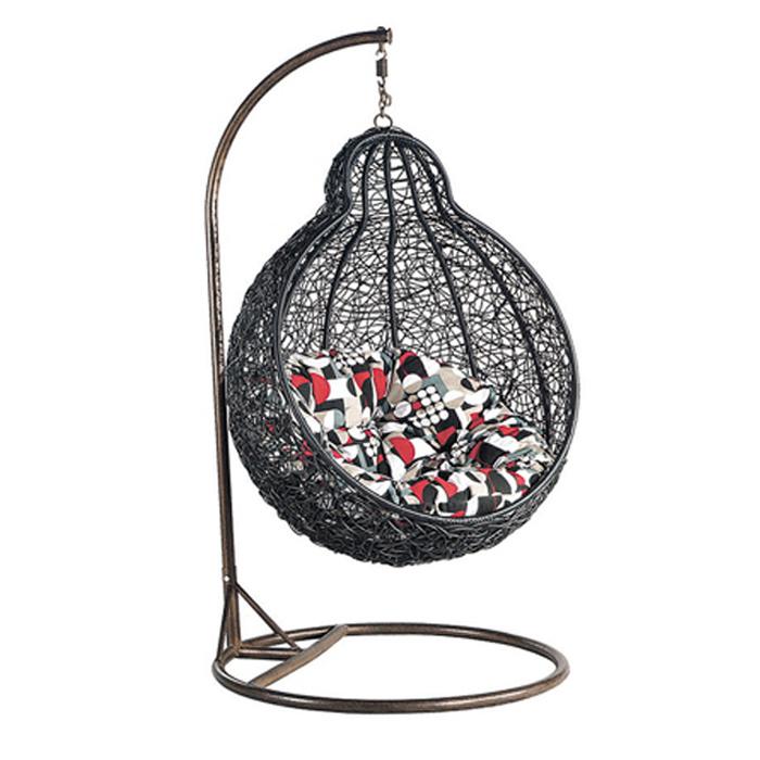 Outdoor Garden Furniture Artificial PE Rattan Woven Hammock Swing Chair