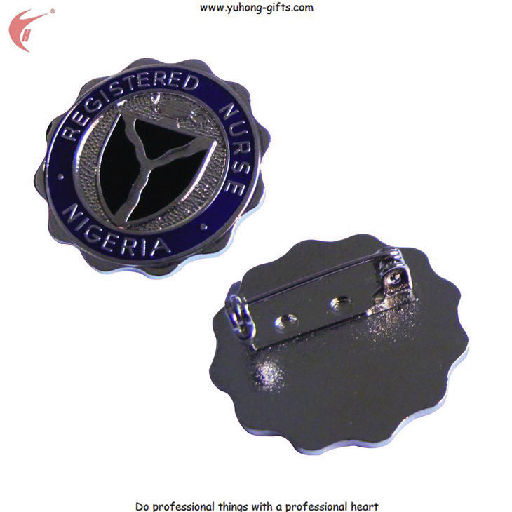 Die Cast Metal Badge with Butterfly Clasp for Garment (YH-MP001)