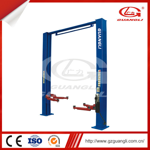 Factory Supply Two Post Design and Double Hydraulic Cylinders 4500kg Car Lift