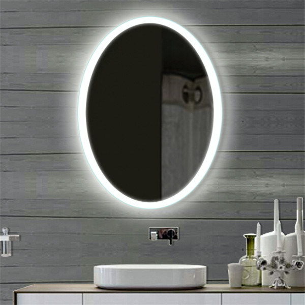 Wall Hanging Hotel Project Bathroom LED Lighting Defogger Mirror