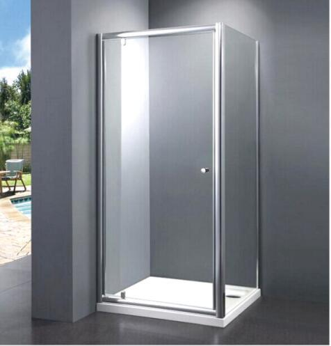 Bathroom Best Price Economy 4/5mm Pivot Door Shower Enclosure with Side Panel