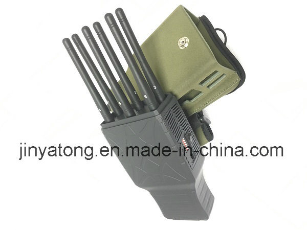 6 Antennas Lojack 3G 4G Cell Phone Jammers with Nylon Case