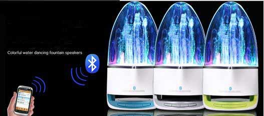 Computer Mobilephone Water Dance Sound Portable Wireless Bluetooth Mini Speakers