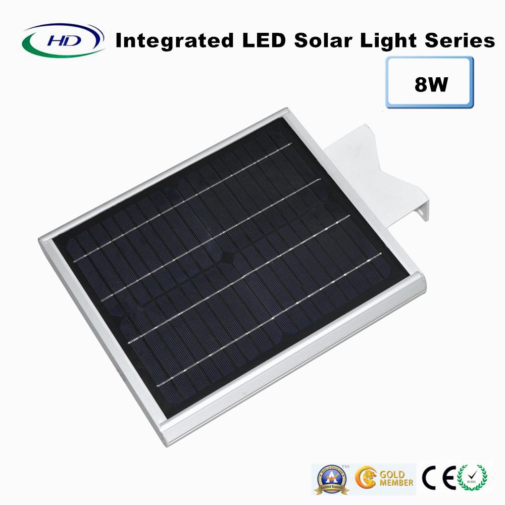 8W PIR Sensor Integrated LED Solar Garden Light