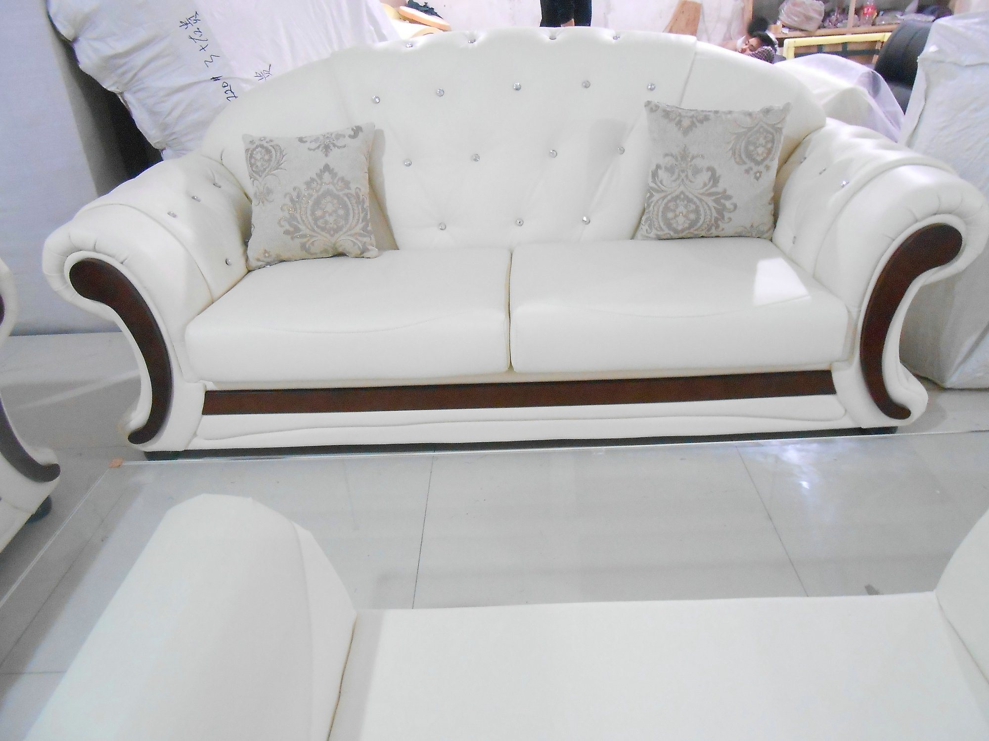 Living Room High Quality Europe Modern Home Furniture Leather Sofa