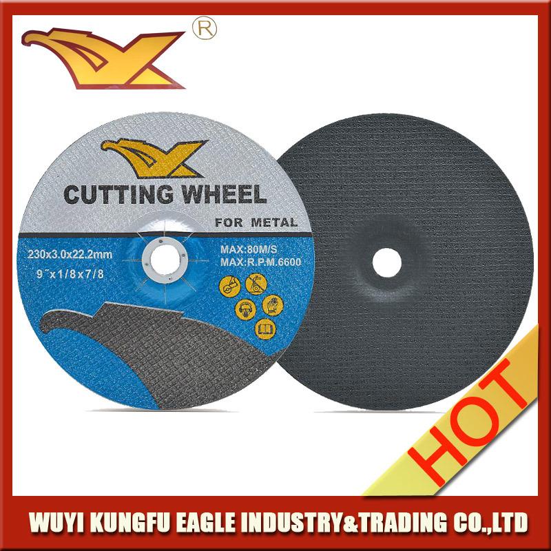 9′′ Angle Grinder En12413 Resin Abrasive Cutting Discs for Metal