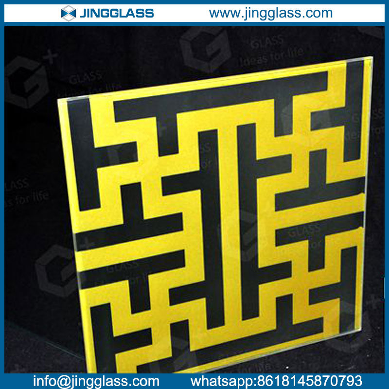 Custom Art Decorative Stained Color Digital Printing Ceramic Frit Glass Low Cost