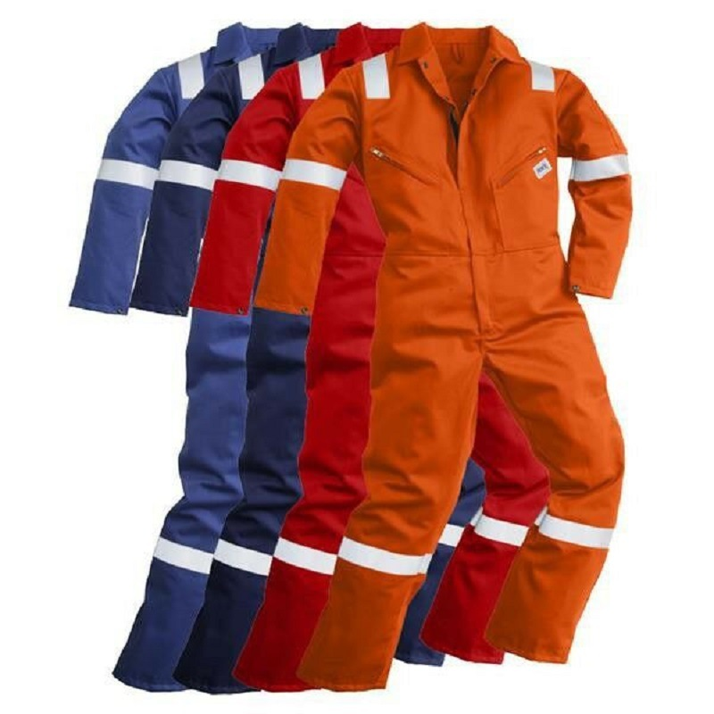 Flame Retardant Coverall for Safety Workwear with Reflective Tapes
