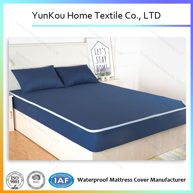 Multicolor Antiwrinkling Durable Knitting Mattress Encasement for Hotle and Home