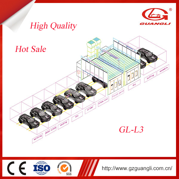 Professional Guangli High Quality Vehicle Equipment Powder/Painting Coating Line