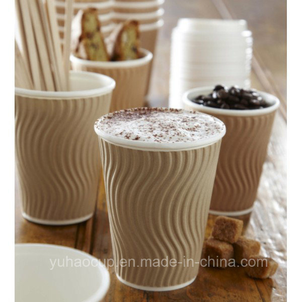 12oz Ripple Paper Cups for Hot Coffee (YHC-100)