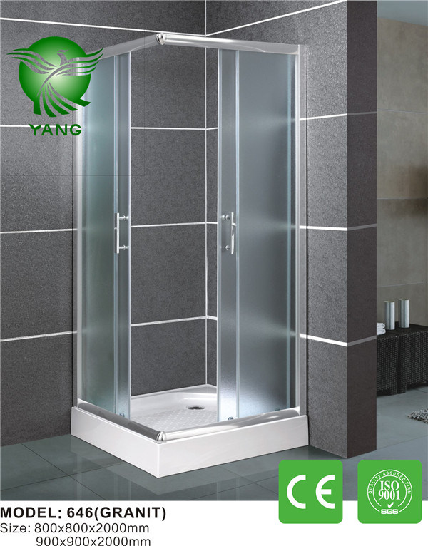 Luxury 304 Stainless Steel Support Bar French Shower Enclosure