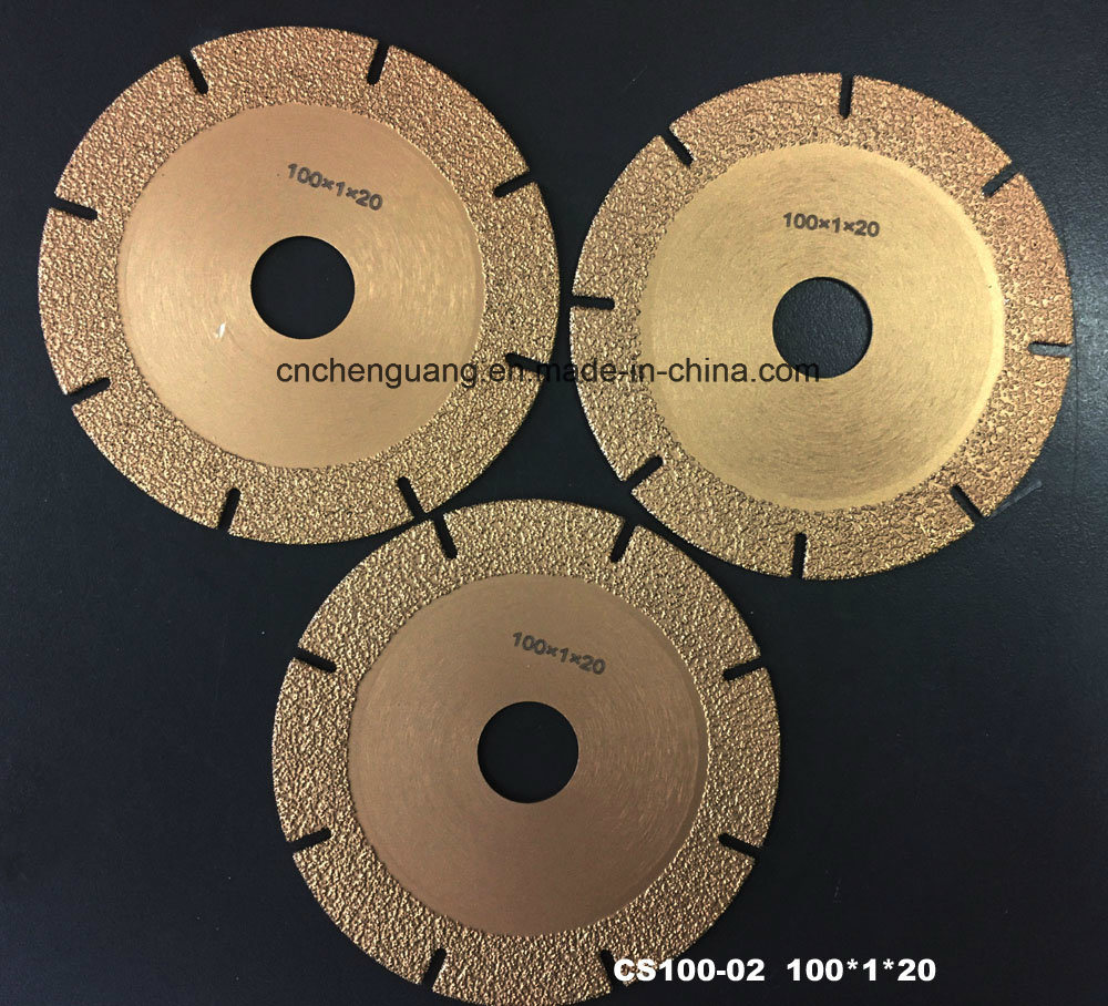 Vacuum Brazing Cutting Disc 100mm 150mm 180mm Diamond Circle Saw Blade