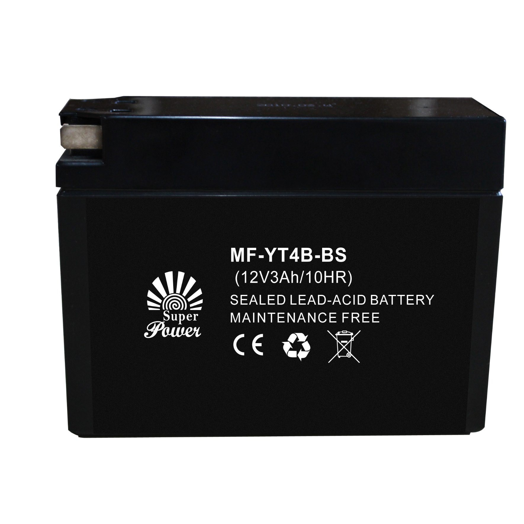 AGM Sealed Maintenance Free Motorcycle Battery with Different Capacity From 12V 2.5ah 4ah 5ah 7ah to 9ah