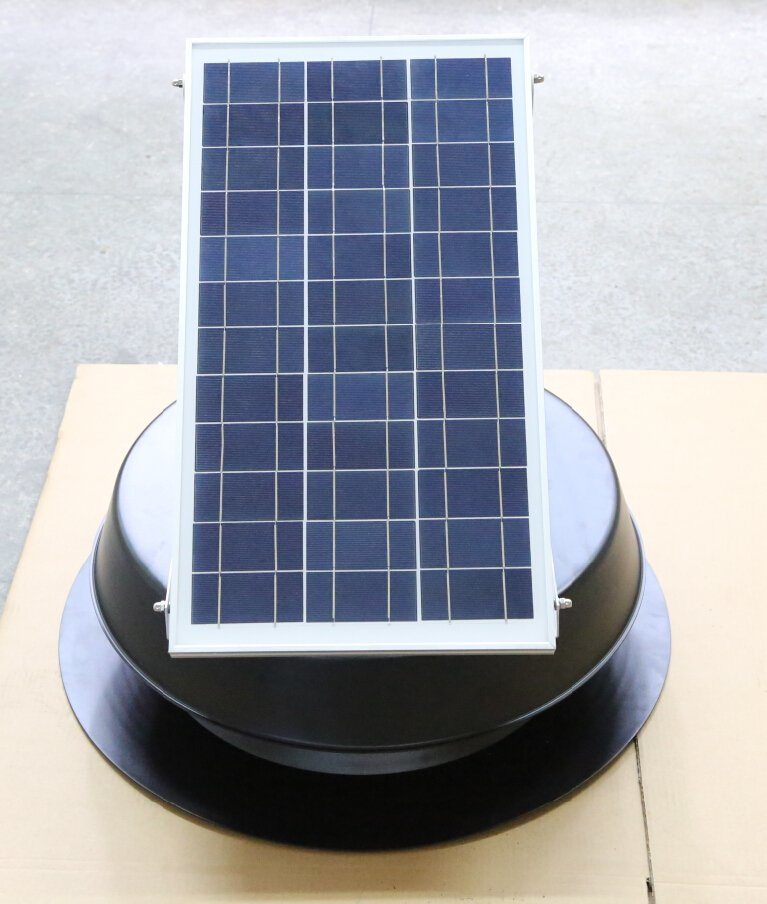 30W Solar Powered Attic Fan with Brushless Motor in USA