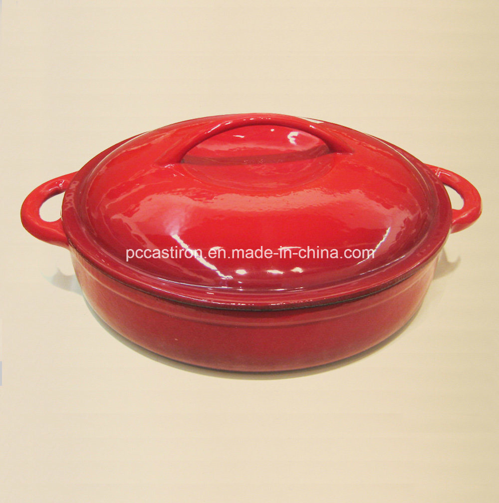 Square Enamel Cast Iron Cocotte Casserole China Factory Size