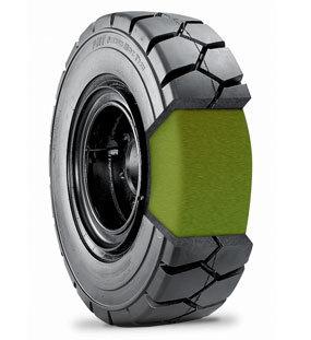 Polyurethane Filling Tyre / OTR Tyre for Underground Mining Vehicle