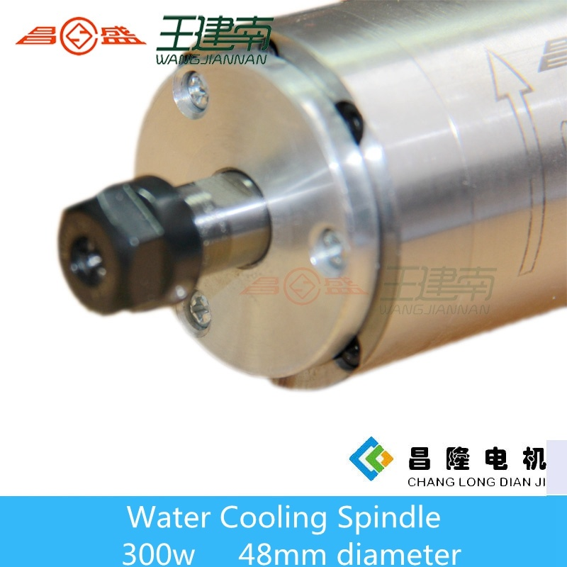 Manufacture 300W Water Cooled High Speed Three Phase Asynchronous Spindle Motor for Wood Carving CNC Router