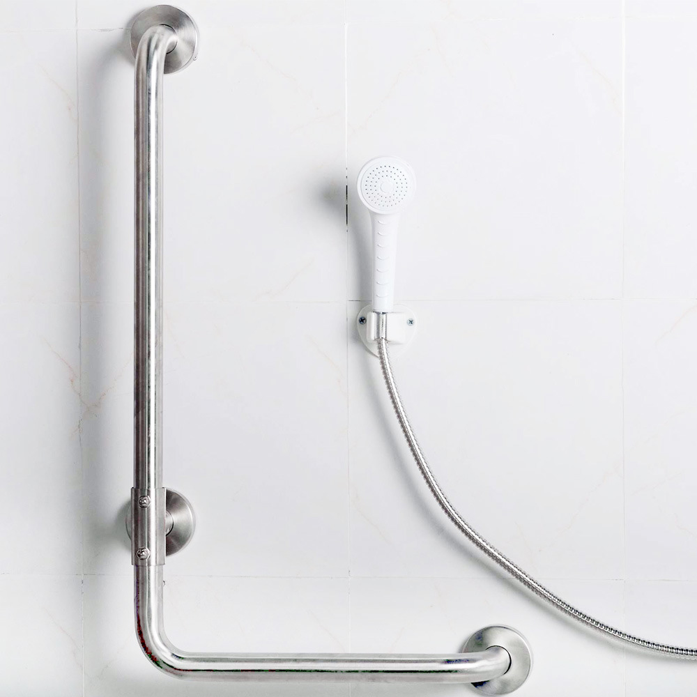 Stainless Steel L-Shape Grab Bars for Bathroom Accessories