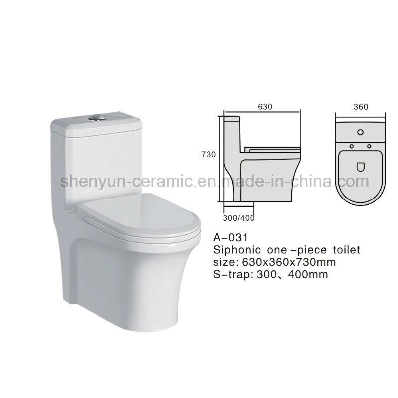 One-Piece Ceramic Toilet Color Toilet S-Trap (A-031)