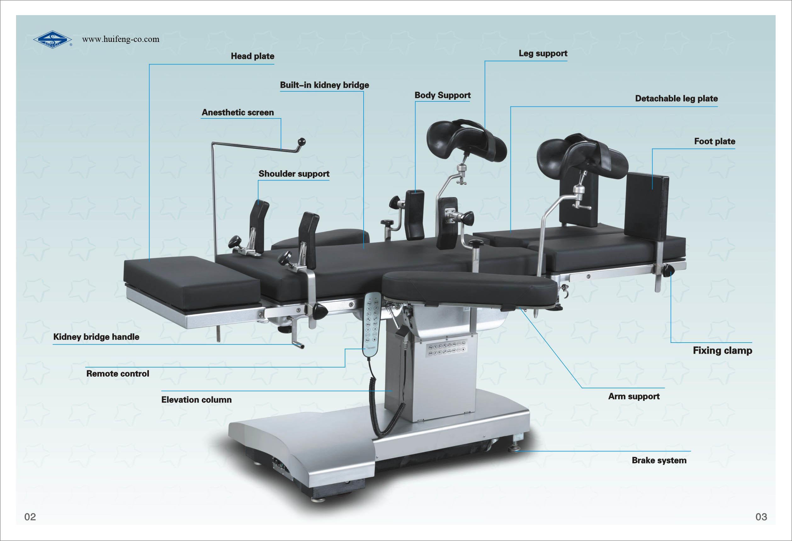 Orthopedic Electric Hydraulic Operation Table (HFEOT99C)