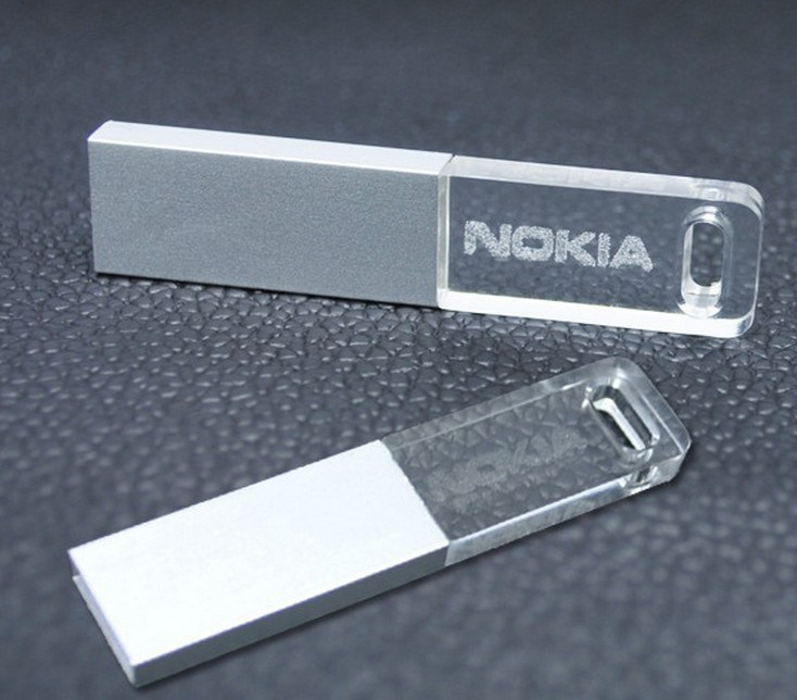 Acrylic Transparent Flash Memory 128MB-64GB Acrylic USB Drive with LED