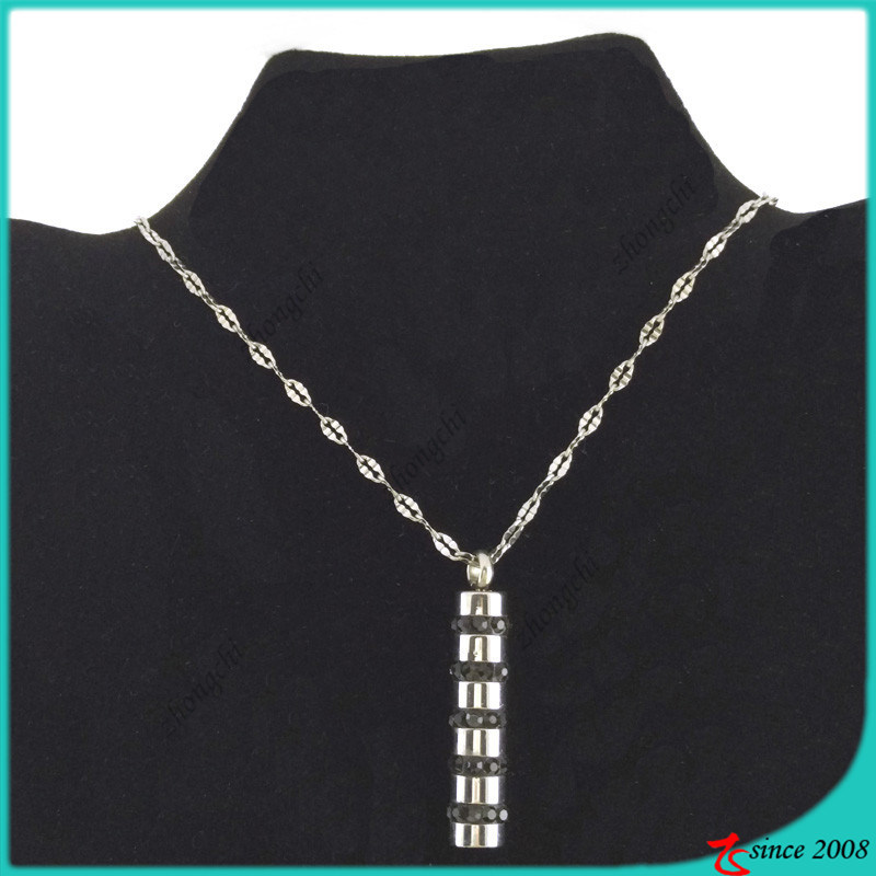 Stainless Steel Bar Necklace for Boy Necklace Jewelry (FN16040905)
