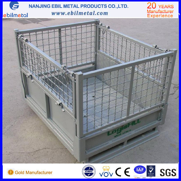 Foldable Wire Mesh Container / Metallic Container with High Quality