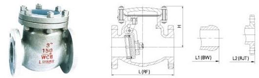 ANSI Asme API600 Cast Steel Swing Check Valve