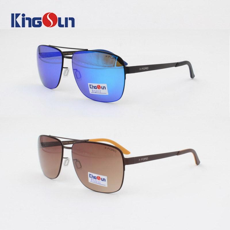 2016 New Cool Sunglasses Square Shape Stainless Steel Sunglasses Polarized for Men Women Ks1111