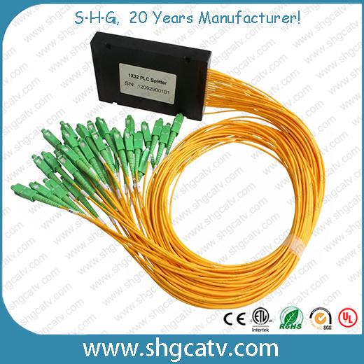 ABS Cassette Box Type 1*32 Fiber Optic PLC Splitter with Sc/Upc Connector