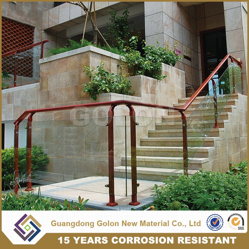 Knock Down Aluminium Glass Stair Railing