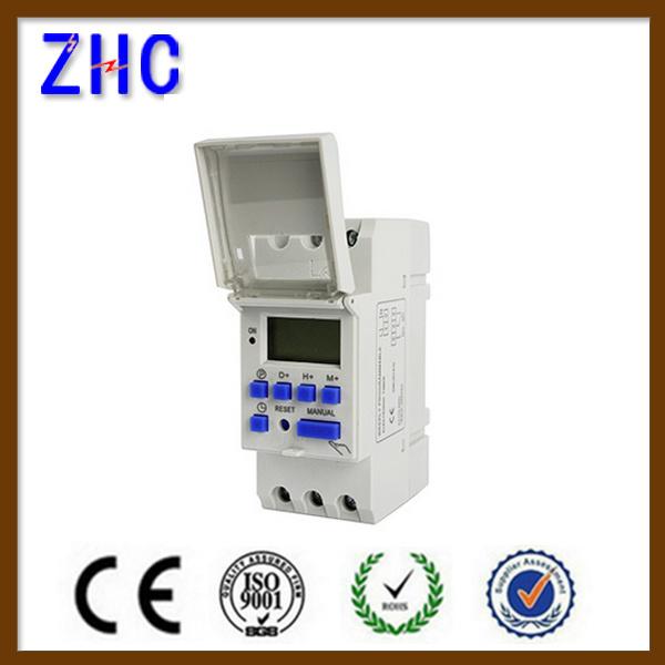 LCD Display Digital DIN Rail Ahc15A 250V Intelligent Timer