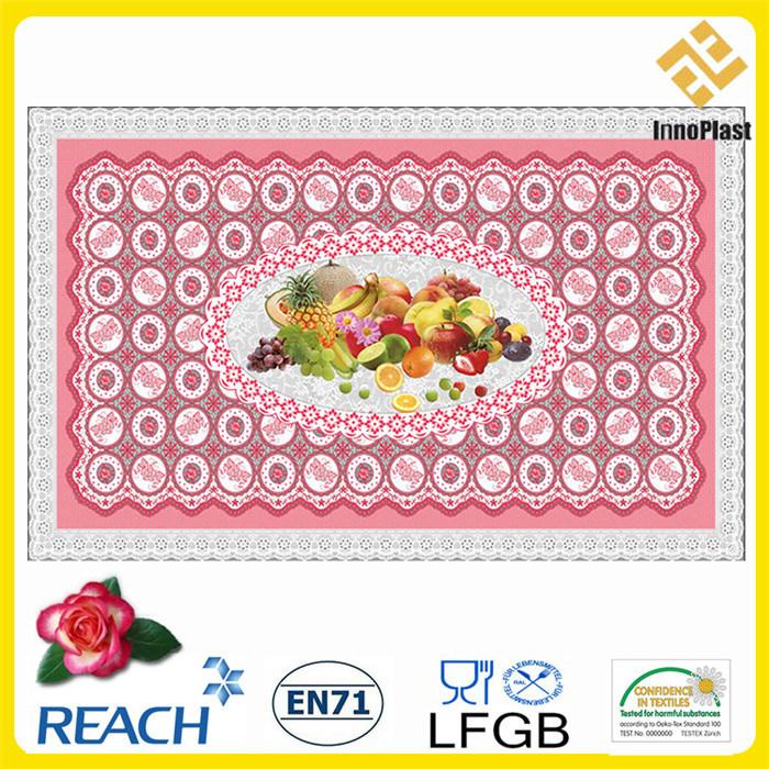 PVC Printed Independent Design Transparent Tablecloths