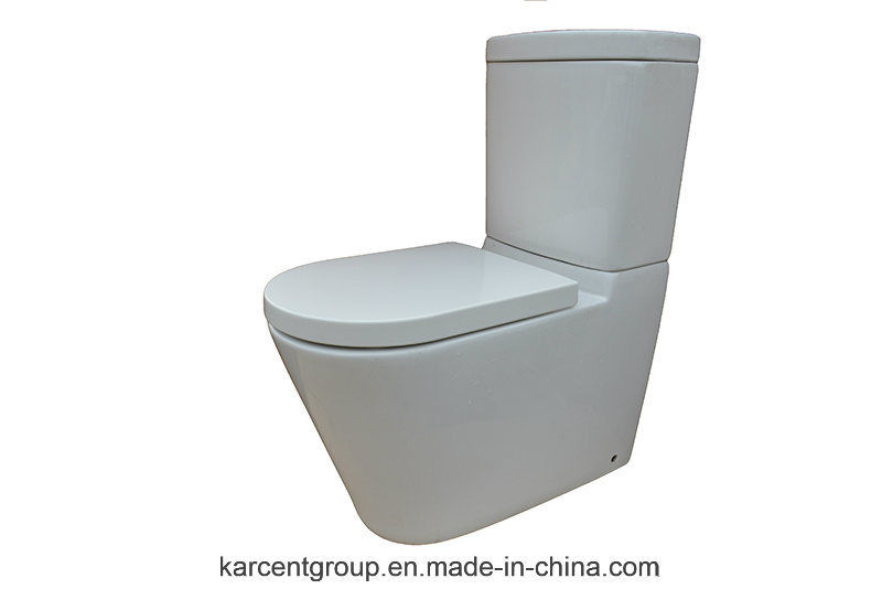 Two Piece Ceramic Toilet Washdown Toilet Water Closet Wc 11511 Rimless