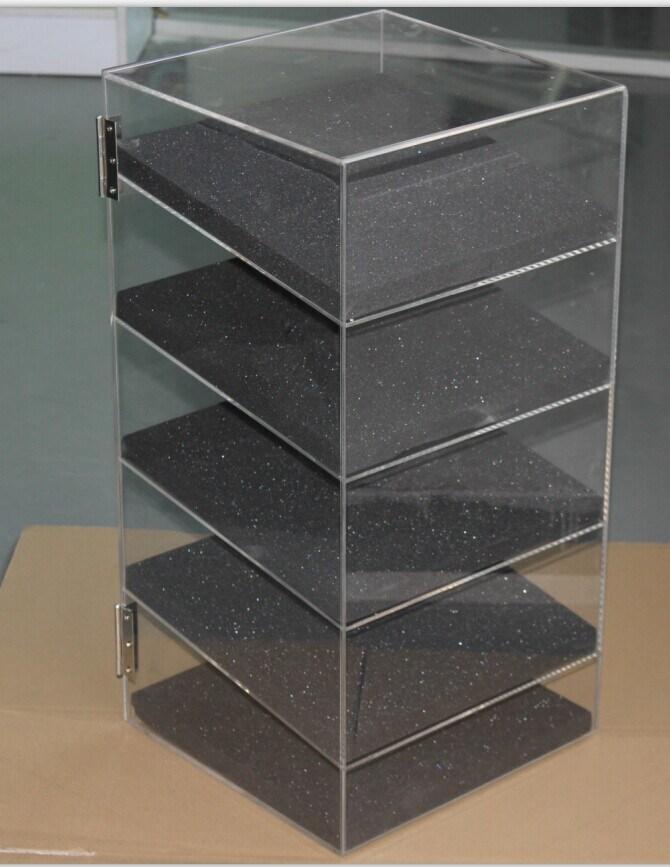 "Acrylic Lucite Showcase Jewelry Pastry Bakery Counter Display W/Door & Lock (12"" X 6"" X 19""H)"