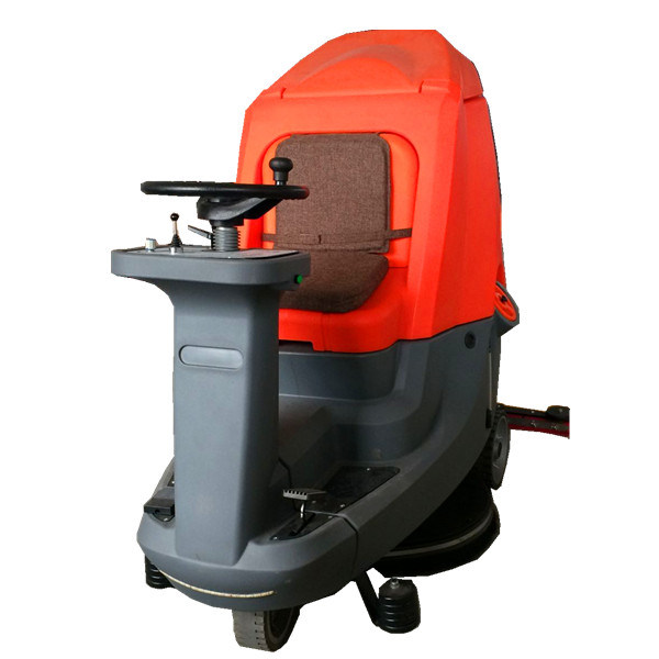 Battery Powered Drive Floor Scrubber with Hugu Tank