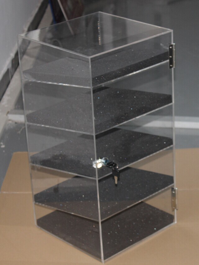 "Acrylic Lucite Showcase Jewelry Pastry Bakery Counter Display W/Door & Lock (12"" X 6"" X 19""H)"