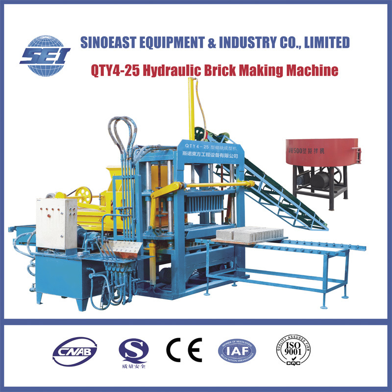 Qty4-25 Hydraulic Brick Making Machine