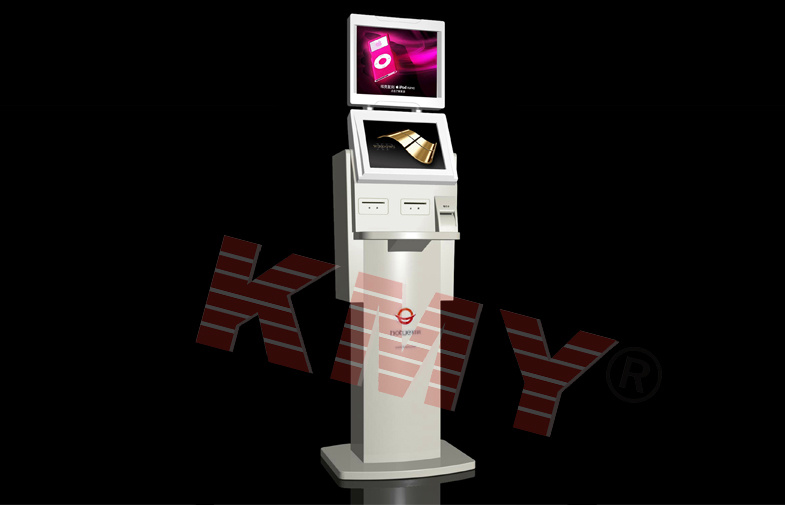 All in One Dual Screen Advertising Display Kiosk Manufacturer
