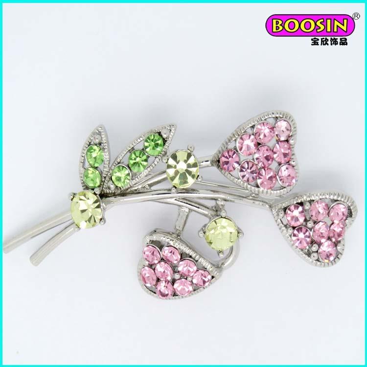 Custom Crystal Initial Letter Logo Brooch I Do Lashers Brooch Pin