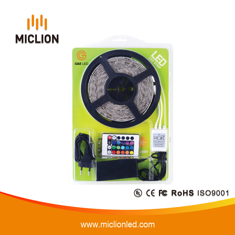 5m Type 5050 Color RGB LED Lighting Strip with Ce