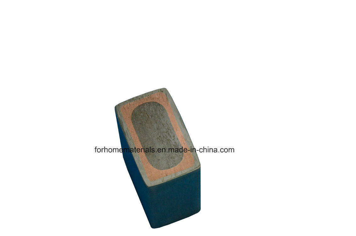 Trimetal Titanium+Copper+Steel Clad Electrode Rod