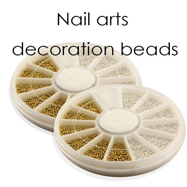 Nail Decoration Silver Golden Beads Balla Decoratin
