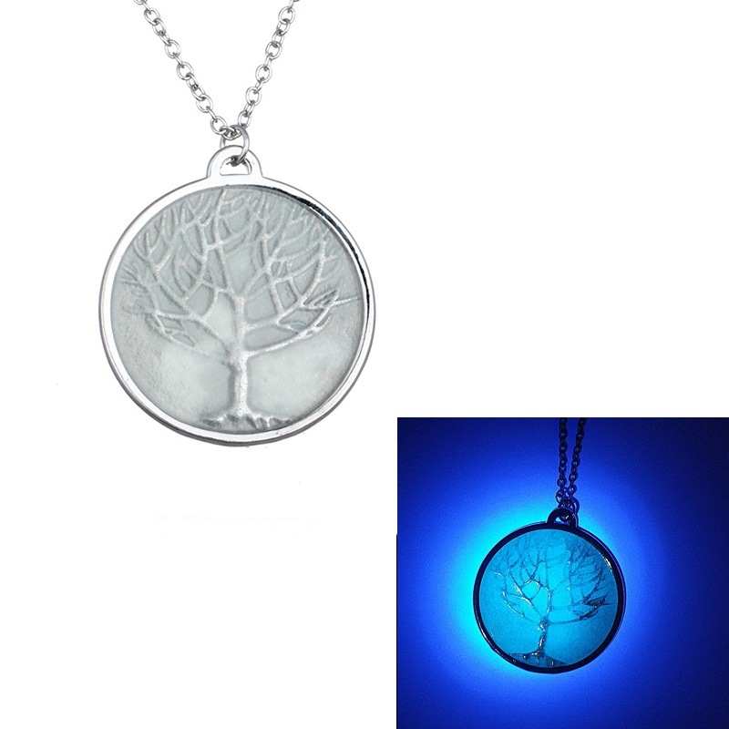 Fashion Luminous Glow in The Dark Necklace The Tree of Life Pendant Necklace for Women