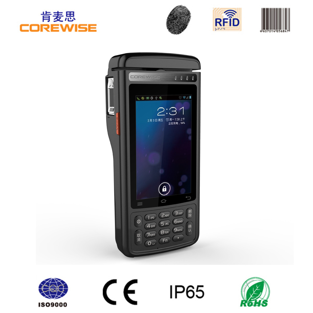 RFID Manufacturer Android POS Terminal Handheld Built-in Thermal Printer with Fingerprint Reader