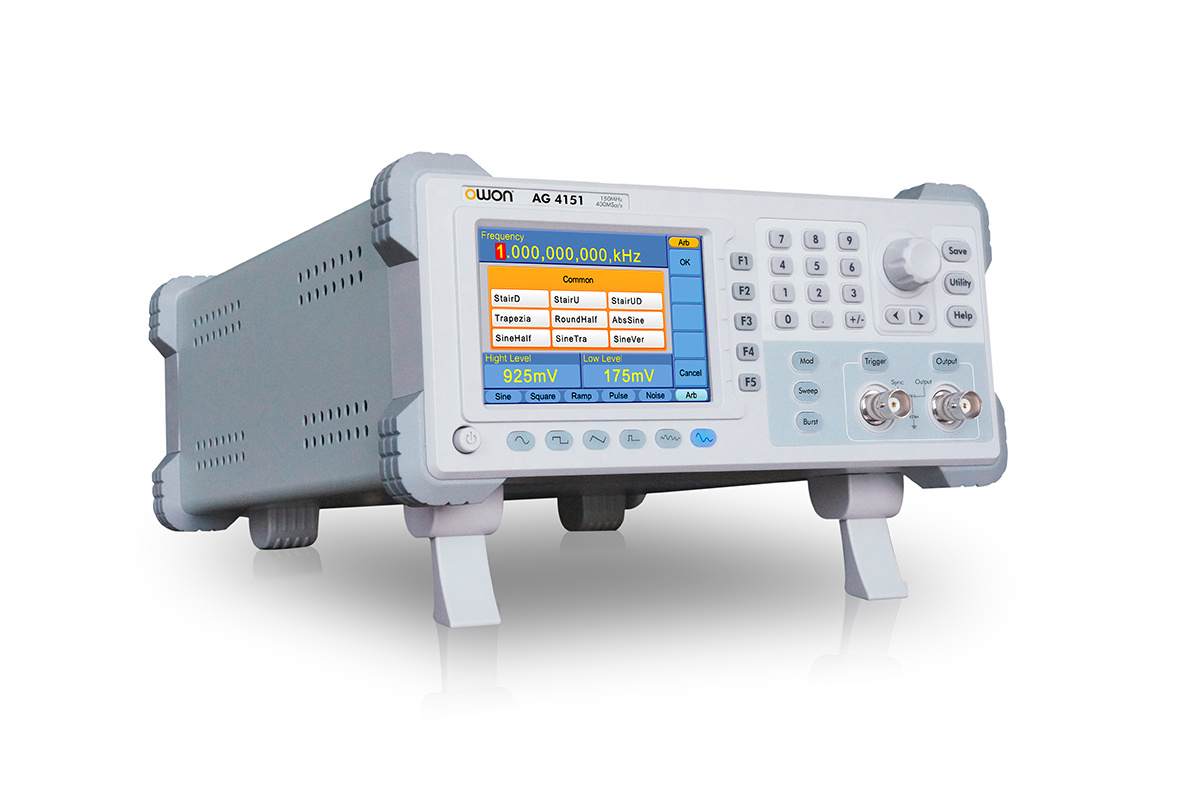 OWON 120MHz Single-Channel Arbitrary Waveform Generator (AG4121)